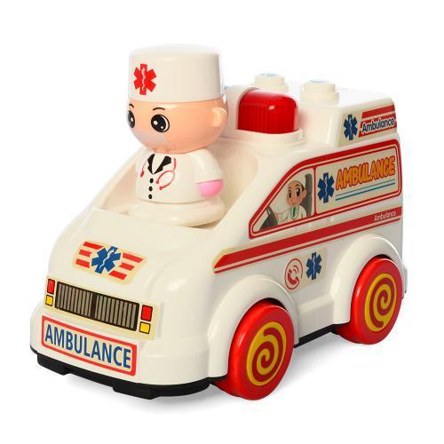 Детская игрушечная машинка Скорая помощь 35303C с фигуркой 8 см