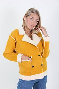 Пальто женское LadiesFashion 1640 (Желтый M/L)
