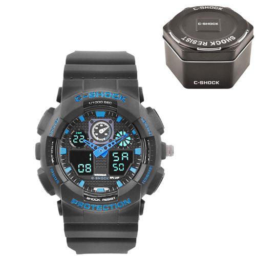 Часы наручные C-Shock GA-100 Black-Blue+Box