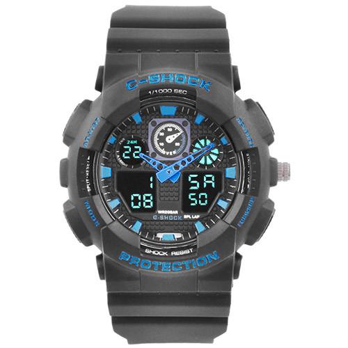 Часы наручные C-Shock GA-100 Black-Blue
