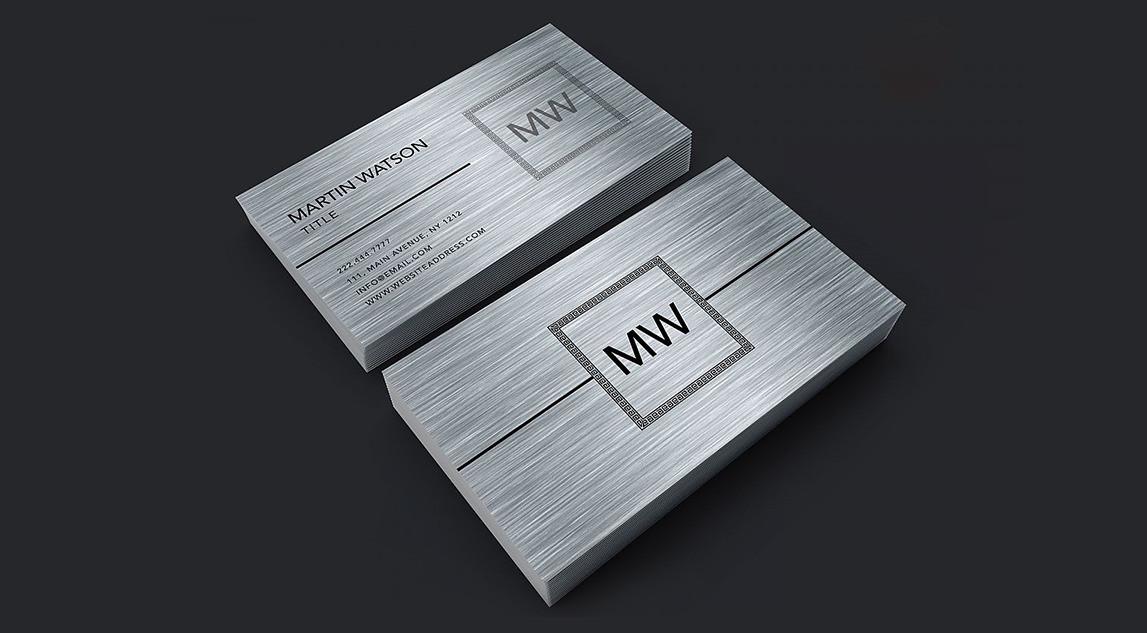 Изготовление металлических визиток