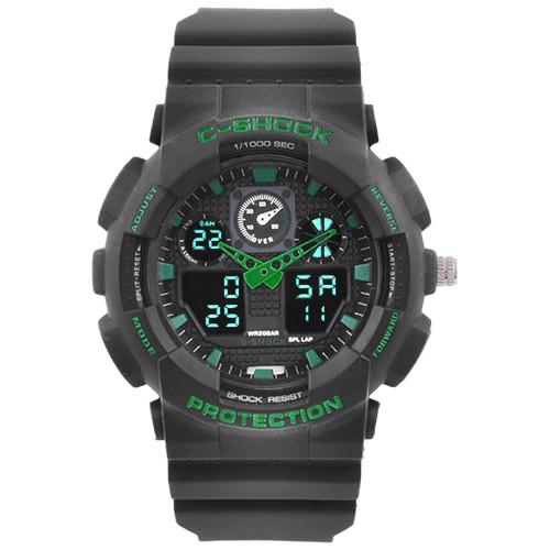 Часы наручные C-Shock GA-100 Black-Green