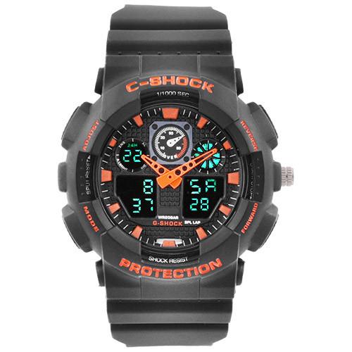 Часы наручные C-Shock GA-100 Black-Orange
