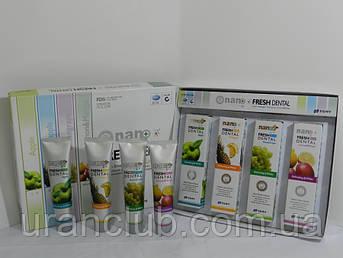 Зубные пасты серии Fresh Dental Nano с серебром и натуральными экстрактами фруктов Комплект