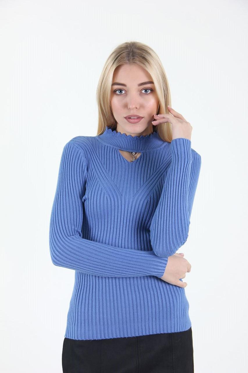 Гольф женский LadiesFashion 223-2 (Синий M)