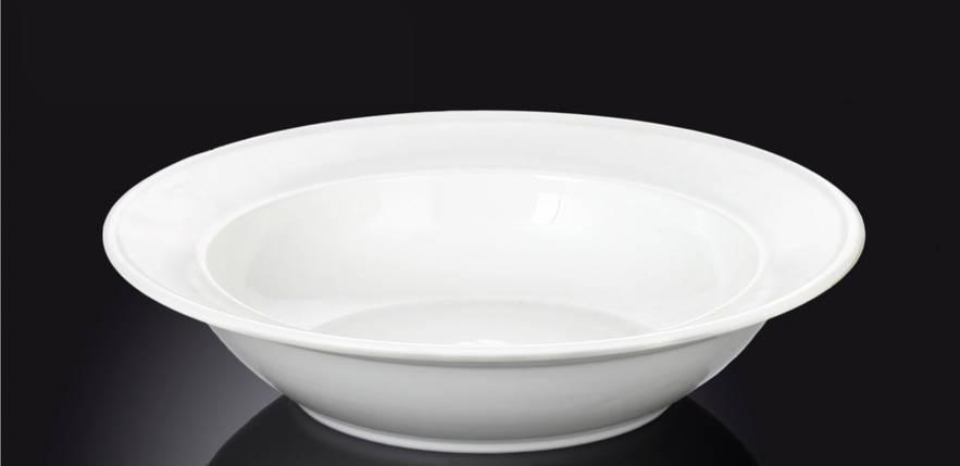 Тарелка фарфоровая глубокая Wilmax круглая белая (20 см), фото 2