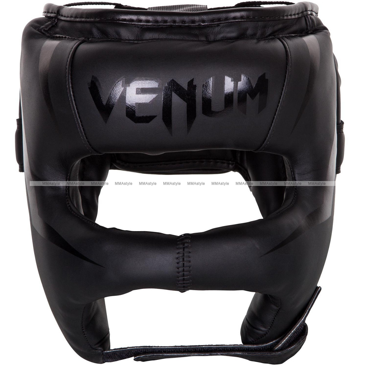 Боксерский шлем Venum Elite Iron Headgear Matte Black