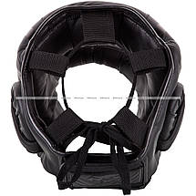 Боксерский шлем Venum Elite Iron Headgear Matte Black, фото 3