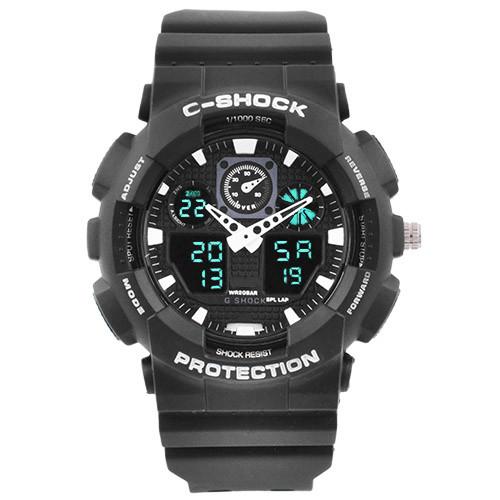 Часы наручные C-Shock GA-100 Black-White