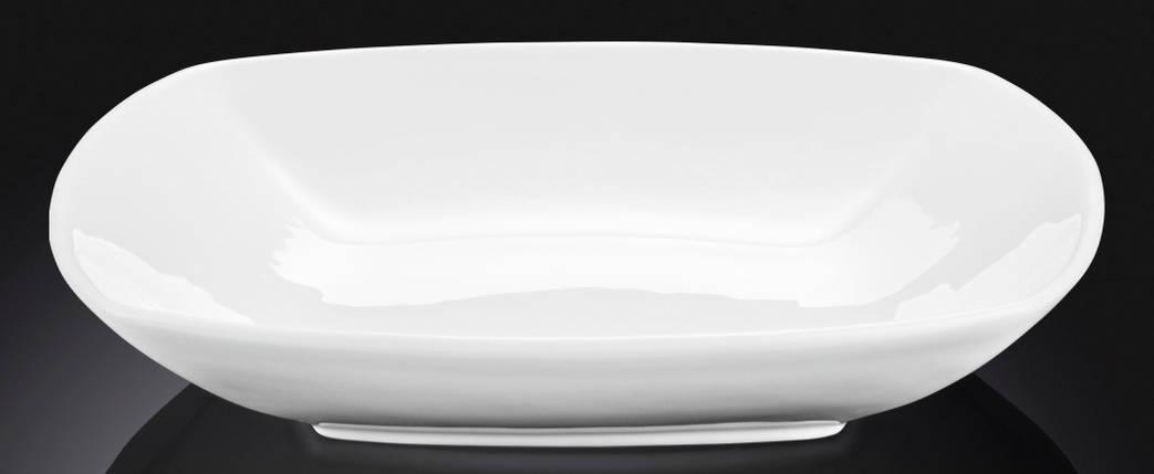 Тарелка фарфоровая глубокая Wilmax квадратная белая (25 см), фото 2