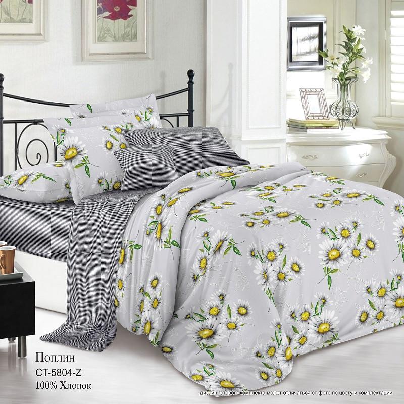 Комплект постельного белья Поплин TM-5804-Z-A-B (Евро) арт.K-PN-TM-5804-Z-A-B