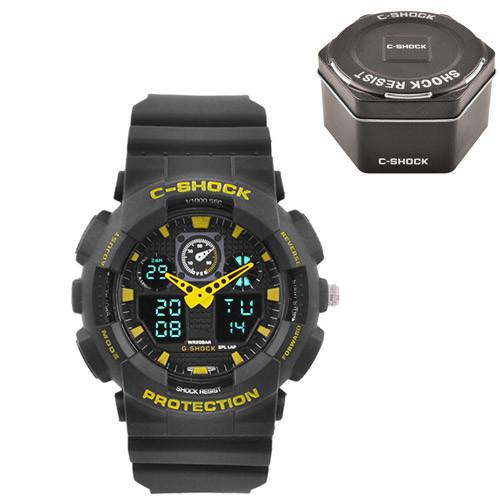 Часы наручные C-Shock GA-100 Black-Yellow+Box