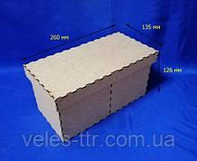Короб с крышкой на 2 деления 25х12,5х12,3 см ДВП заготовка для декора