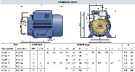 Вихревой насос Pedrollo модель PQAm 70 (однофазный) для чистой воды, фото 3