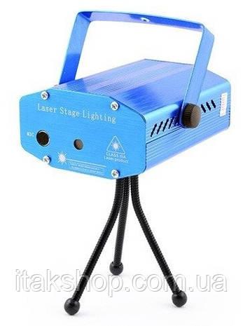 Лазер диско проектор YX-6G, 220V з стробоскопом, фото 2