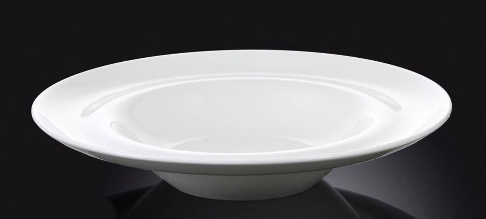 Тарелка фарфоровая глубокая Wilmax круглая белая (25,5 см), фото 2