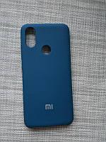 Чехол Silicone Case для Xiaomi Mi8 SE прорезиненный оригинальный темно-зеленый