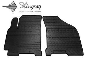 Daewoo Gentra 2013- Комплект из 2-х ковриков Черный в салон