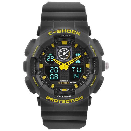 Часы наручные C-Shock GA-100 Black-Yellow