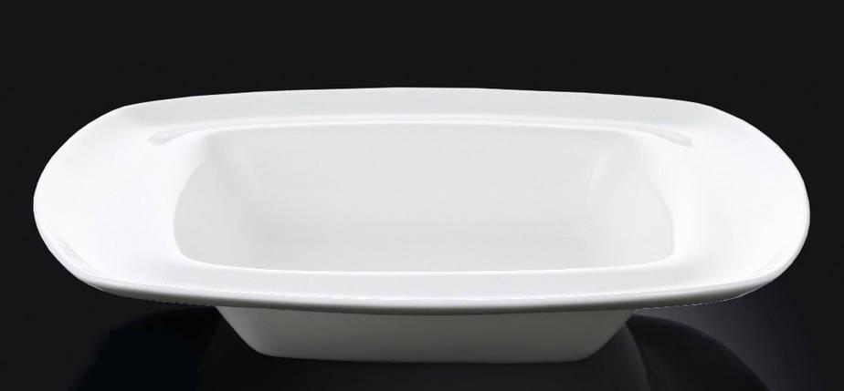 Тарелка фарфоровая глубокая Wilmax квадратная белая (25,5 см), фото 2