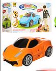 Дорожній чемодан-машина для дітей Bambi MK 1212 помаранчевий, фото 2