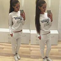 Спортивный костюм женский Кокаин белый ЕК/-316