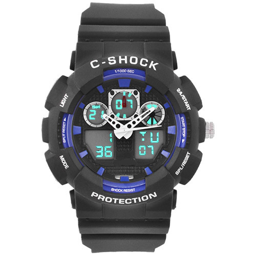 Часы наручные C-Shock GA-100B Black-Blue