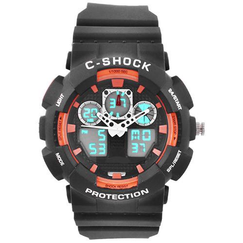Часы наручные C-Shock GA-100B Black-Orange