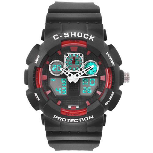 Часы наручные C-Shock GA-100B Black-Red