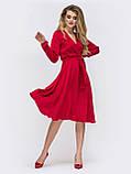 Шовкова сукня довжиною міді з ліфом на запах, фото 2
