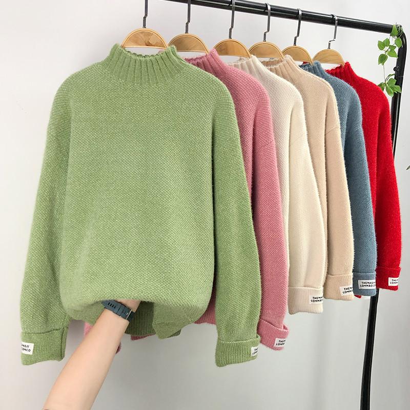 Теплый однотонный свитер на каждый день 44-48 (в расцветках)