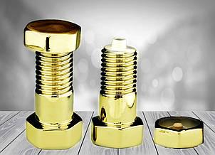 Графин Болт с гайкой (золото) Штоф 0,5 л