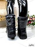 Мунбуты дутики луноходы женские черные шнуровка, фото 4
