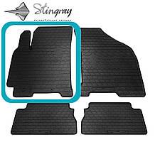 Daewoo Gentra 2013- Водительский коврик Черный в салон