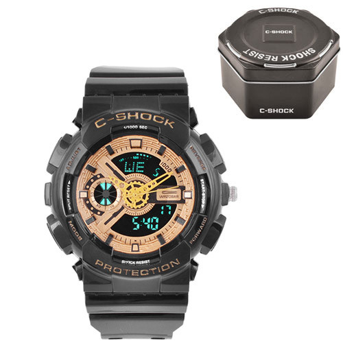 Часы наручные C-Shock GA-110 Black-Gold+Box