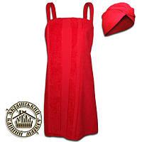 Женский комплект для бани (красный)