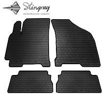Daewoo Gentra 2013- Комплект из 4-х ковриков Черный в салон