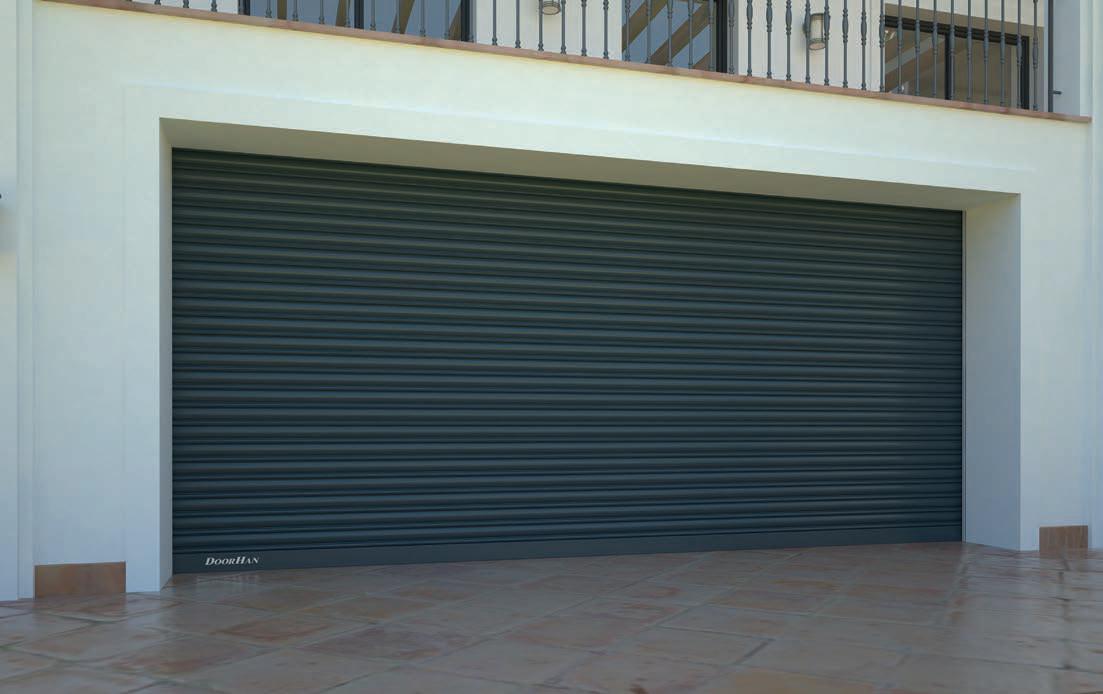 DoorHan RHS117/08 — Рулонные ворота с внутривальным электроприводом из сплошного стального профиля