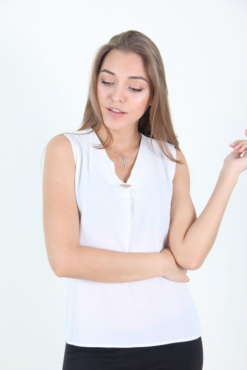 Блузка женская LadiesFashion 8637 (Белый M)