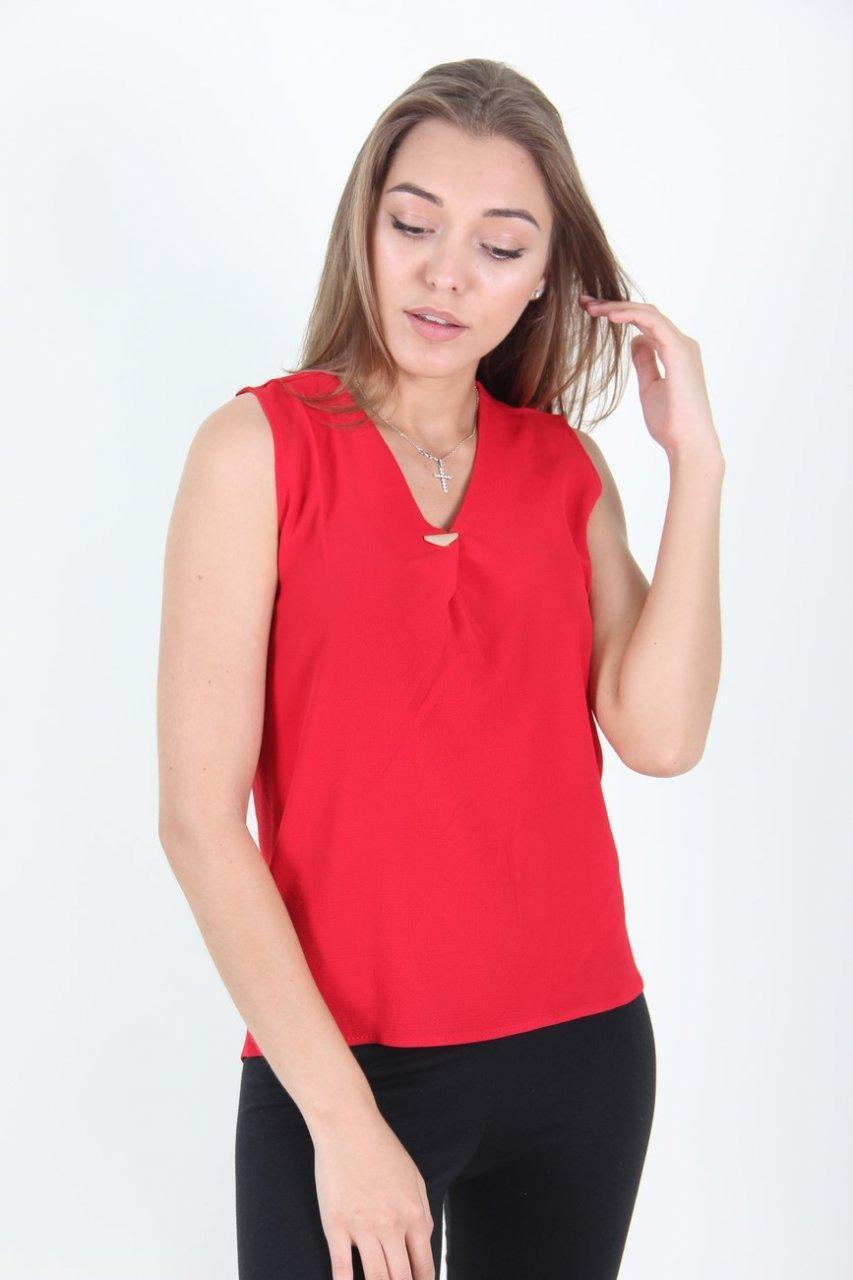 Блузка женская LadiesFashion 8637 (Красный M)