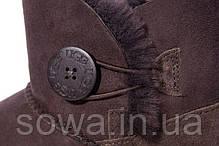 "Женские зимние угги UGG MINI BAILEY BUTTON II BOOT ""CHOCOLATЕ"", фото 3"
