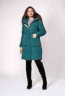Батальная зимння куртка изумрудная с капюшоном 50,52,54,56