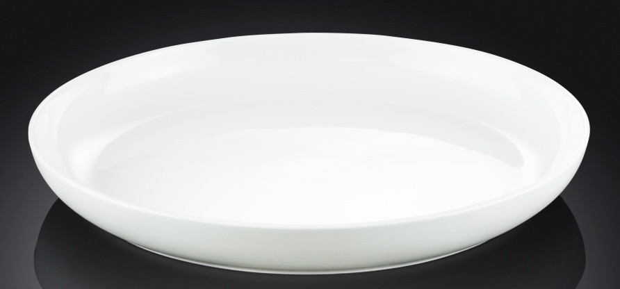 Тарелка фарфоровая десертная Wilmax круглая (19 см)