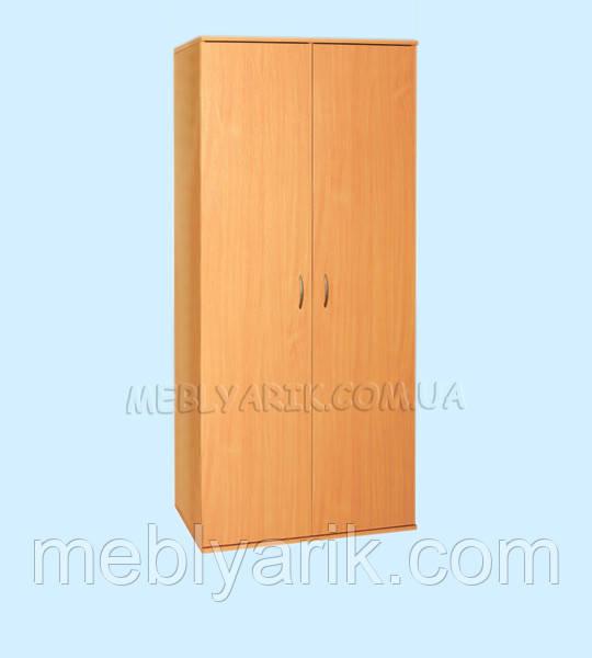Шкаф для одежды 2-дверный с овальной штангой