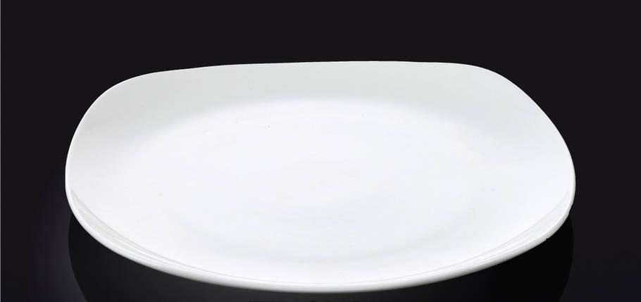 Тарелка фарфоровая десертная Wilmax квадратная (20 см), фото 2