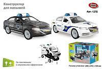 Машина-конструктор Полиция 1378 362 Play Smart, со светом, звук - 220274