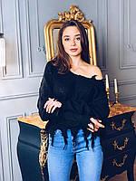 Женский рваный свитер