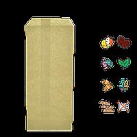Бумажный пакет без ручек крафтовый 220х90мм (ВхШ) 50г/м² 100шт (95)