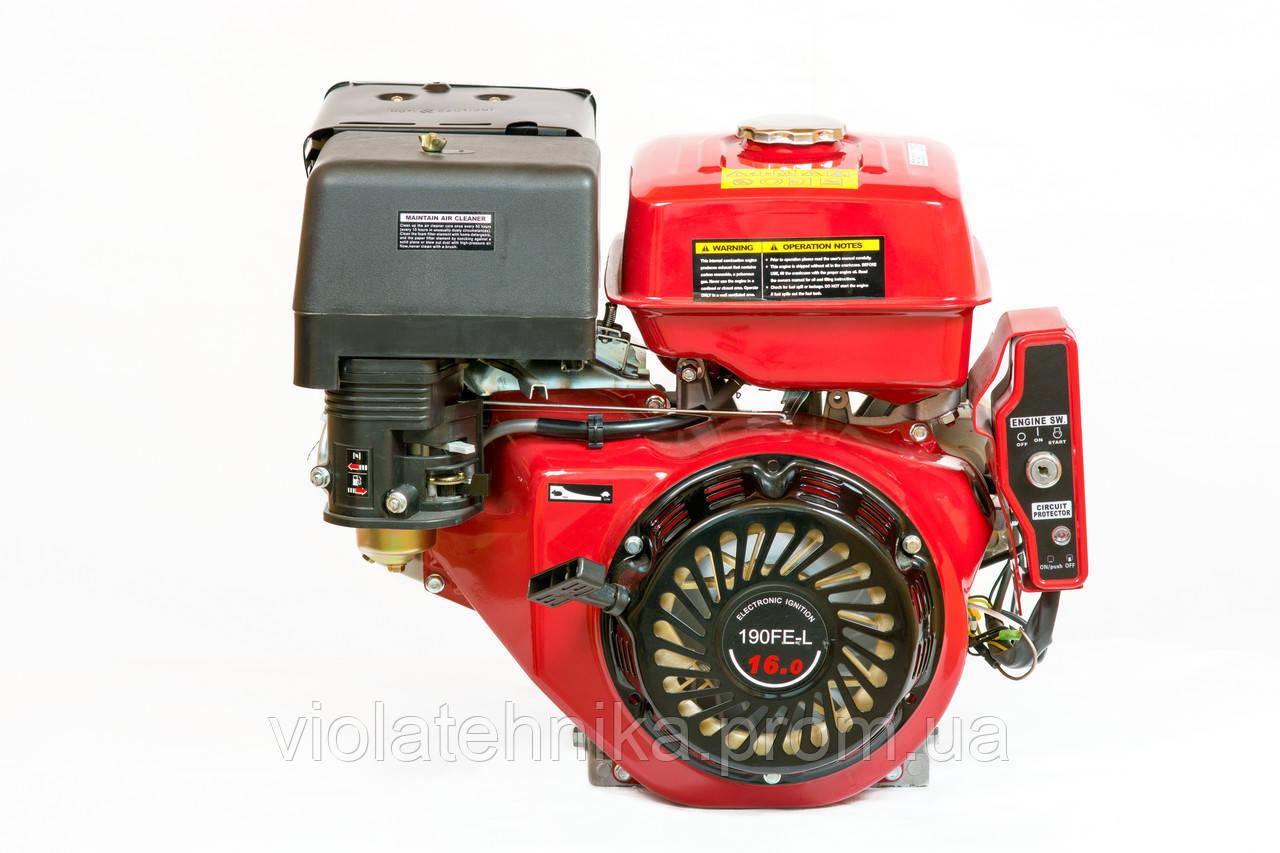 Двигун бензиновий Weima WM190FE-L (R) (HONDA GX420) (редуктор 1/2, шпонка, 16 л. с., електр