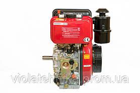 Двигатель дизельный Weima WM178FES (R) 6,0 л.с. (вал ШПОНКА, электростартер, 1800об/мин) + редуктор, фото 3